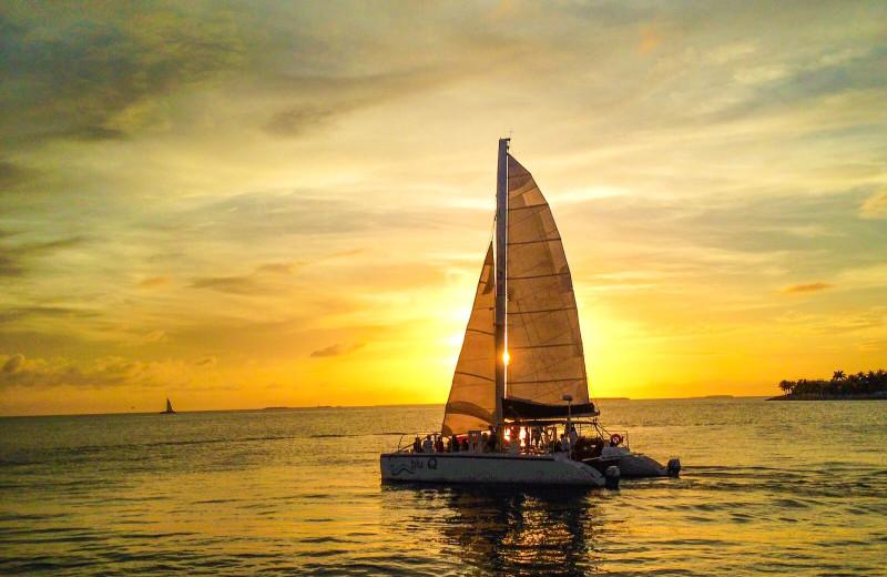 Sailing at Parrot Key Resort.