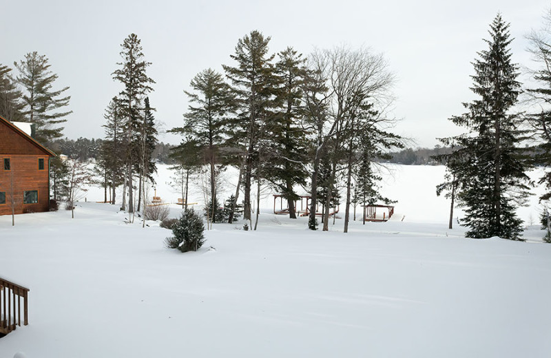 Wintertime lake view at The Conger Collection.