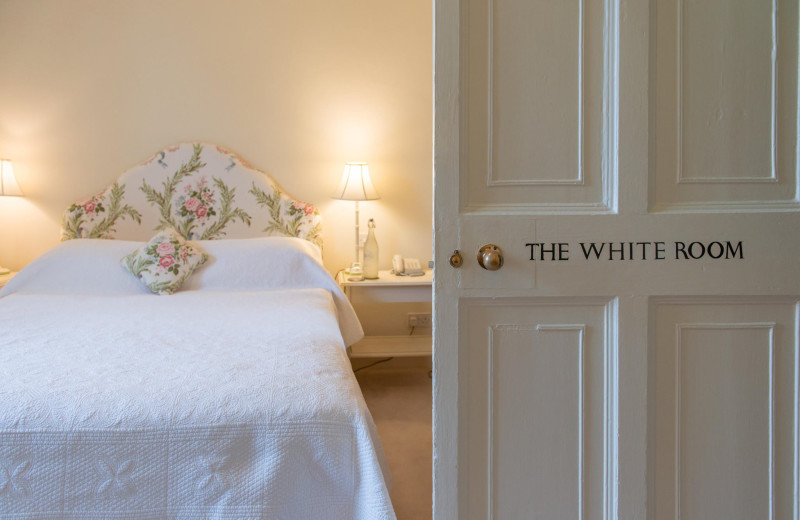 Guest room at Ballymaloe.
