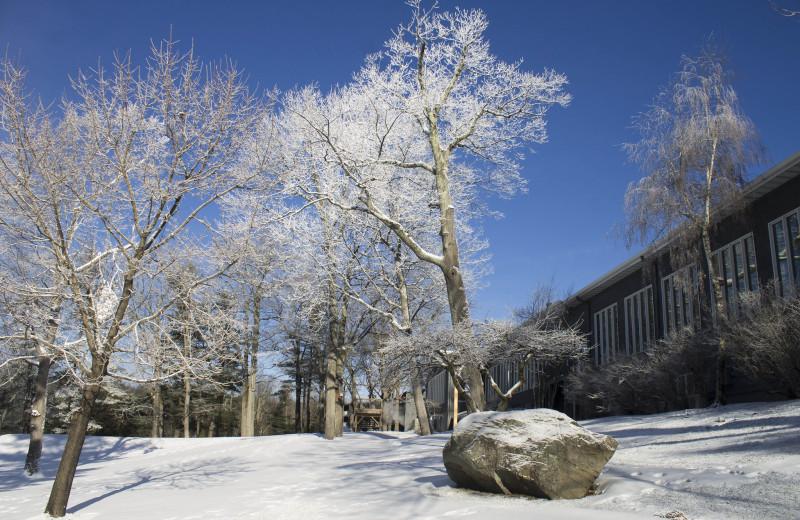 Exterior view of Woodloch Resort.