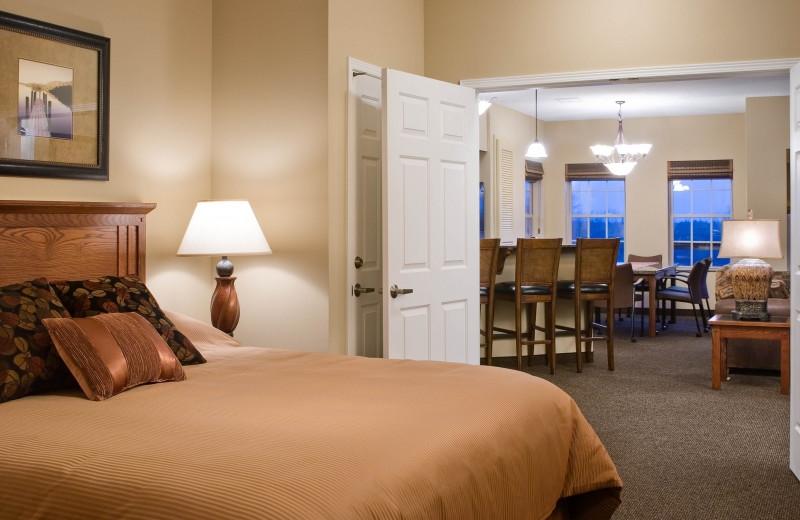Guest room at Bridges Bay Resort.