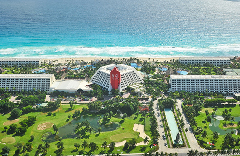 Aerial view of Grand Oasis Hotel.