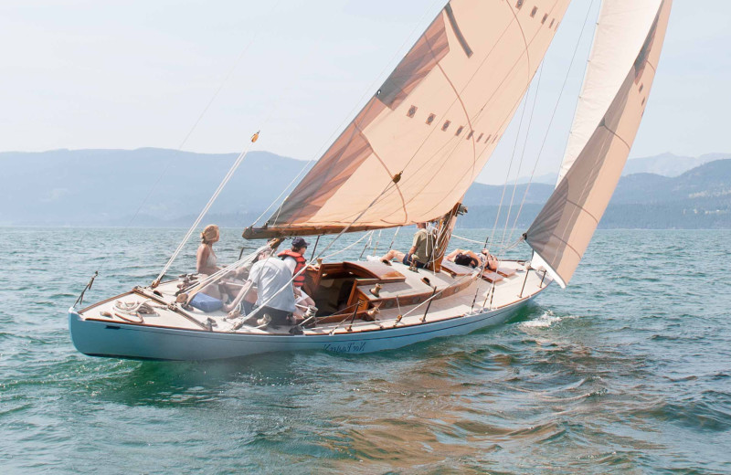 Sailing at Averill's Flathead Lake Lodge.