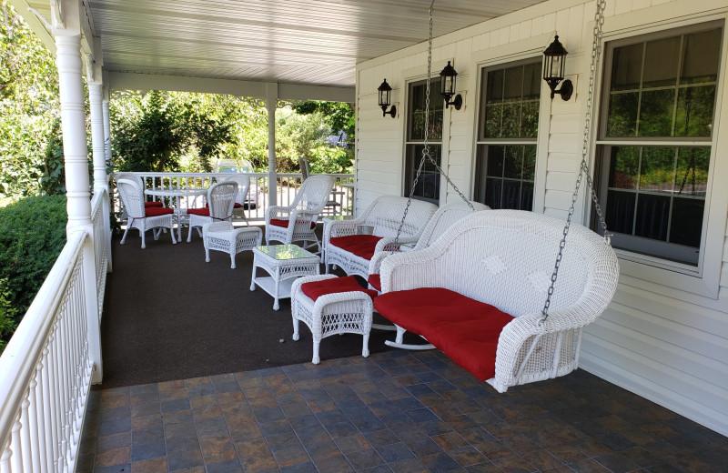 Porch at High Point Inn.