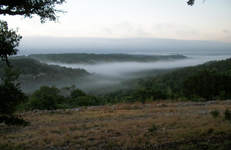 View from Walnut Canyon Cabins.
