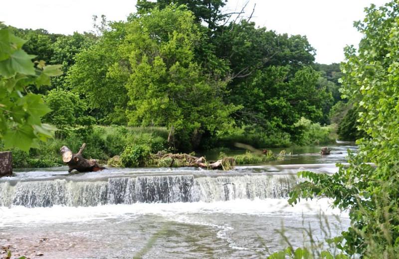 Waterfall at Dawn Hill Community.