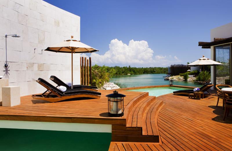 Suite deck at Rosewood Mayakoba.