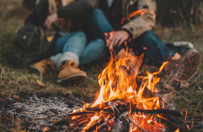 Bonfires at Driftwood Resort.