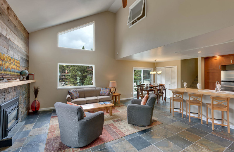 Rental interior at Lake Tahoe Accommodations.