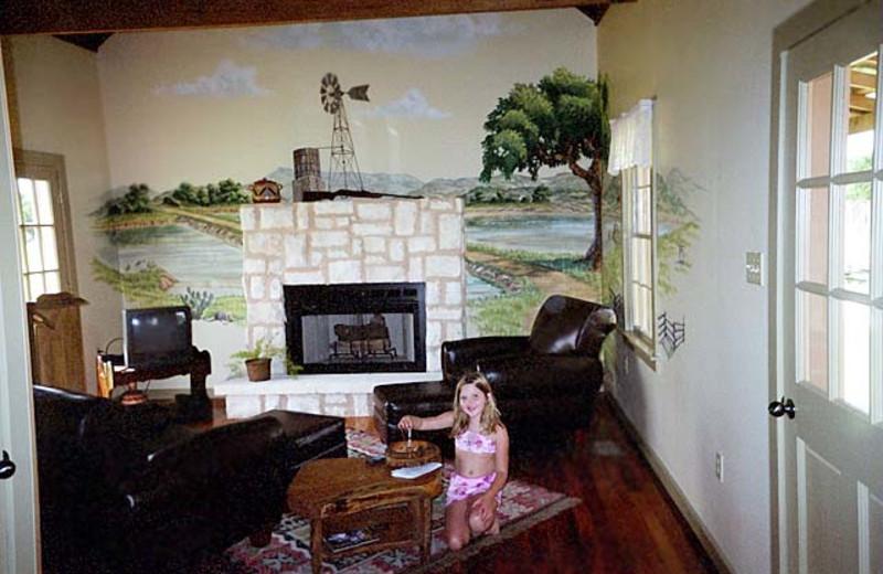 Guest room at Fredericksburg Ranch.