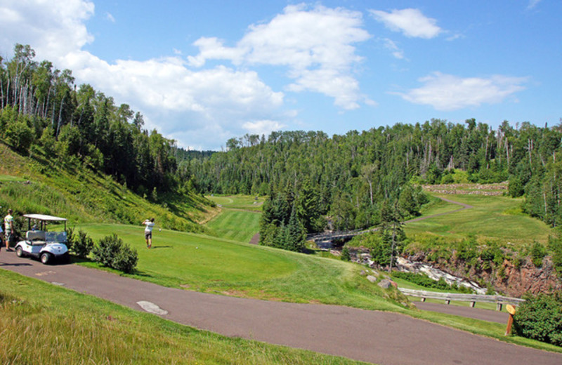 Golf course near Lutsen Resort on Lake Superior.