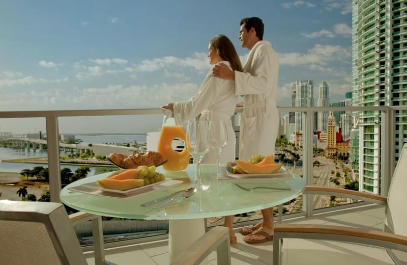 Balcony view at Casa Moderna Miami.