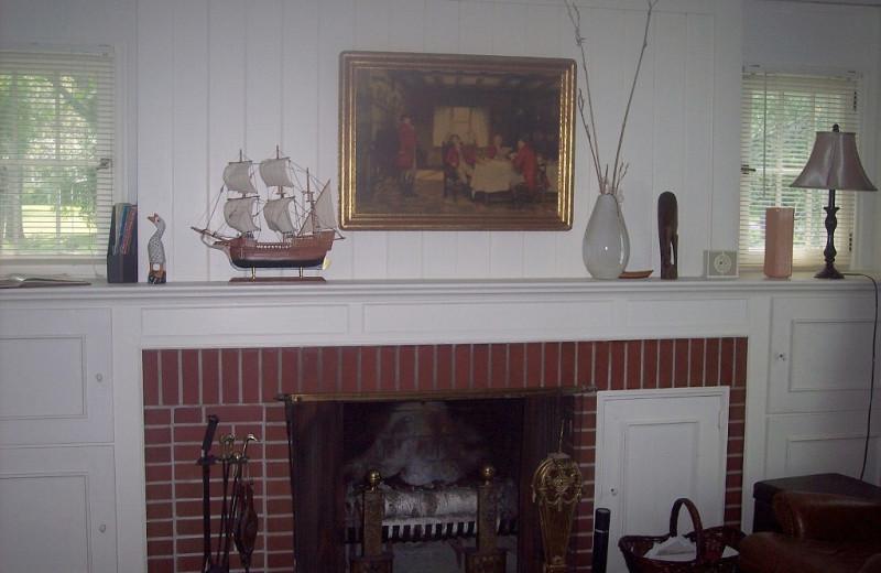 Fireplace at Minnetonka Cape Cod Charmer.