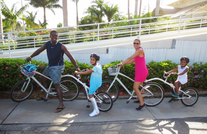 Family biking at Sundial Beach & Golf Resort.