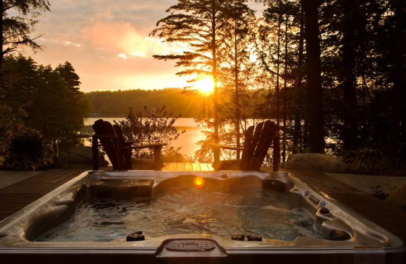 Outdoor Hot Tub at the Fern Lodge