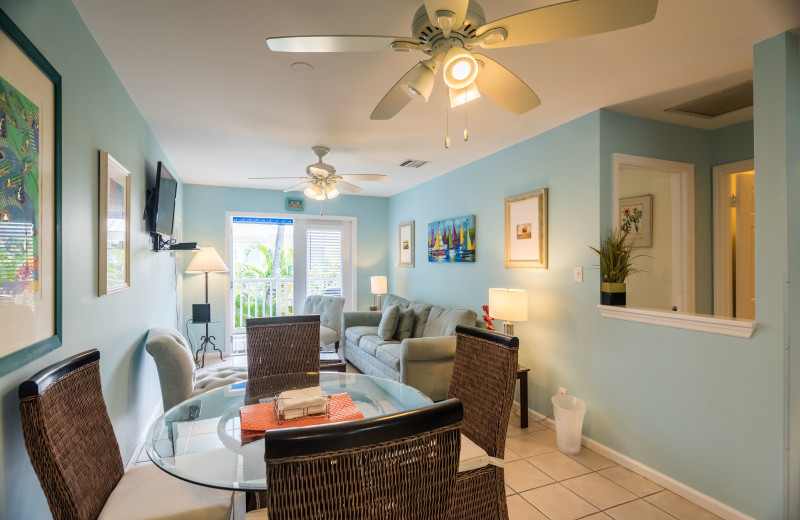 Rental dining room at Key West Vacation Rentals.