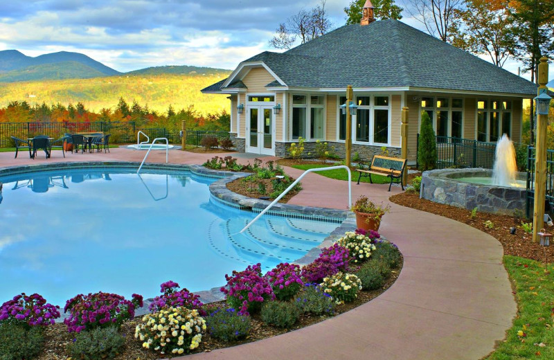 Outdoor pool at Nordic Village Resort.