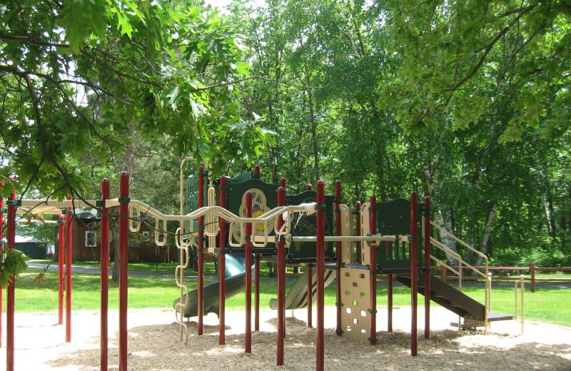 Kid's playground at Finn'n Feather Resort.