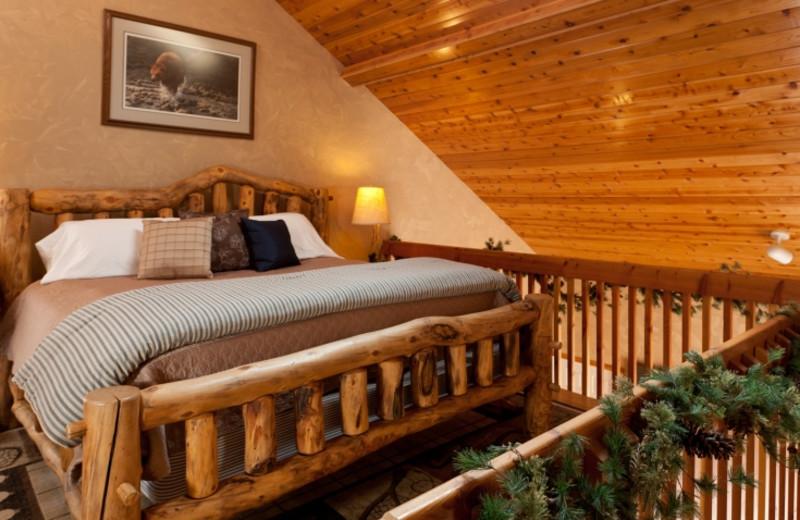 Hunter's Den bedroom at HideAway Country Inn.