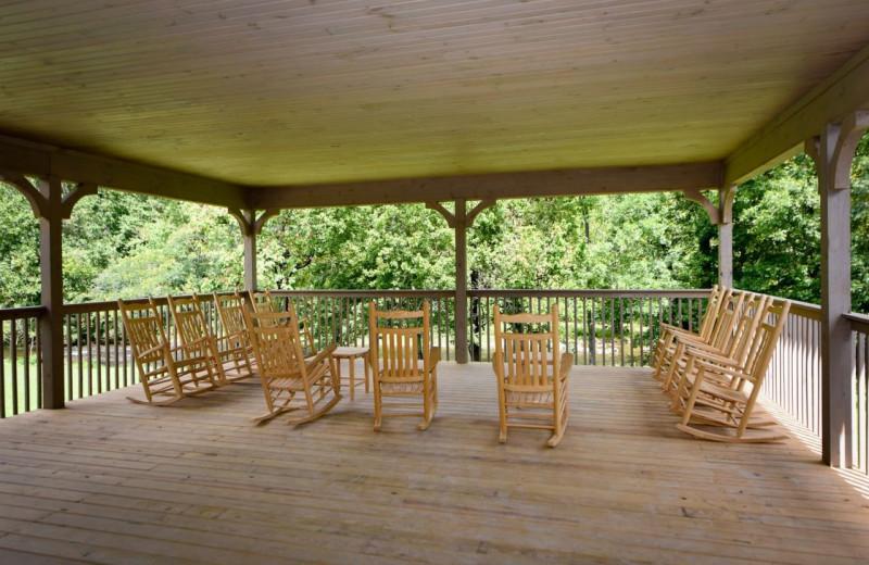Deck at Dogwood Cabins LLC.