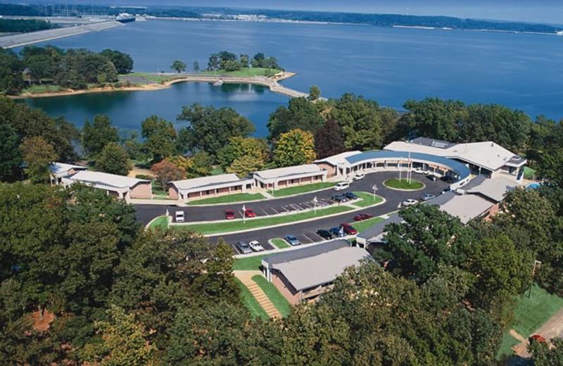 Aerial view of Kentucky Dam Village State Resort Park.