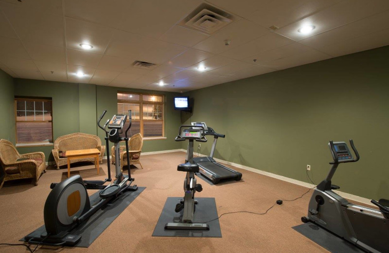 Fitness room at The Lodge at Giants Ridge.