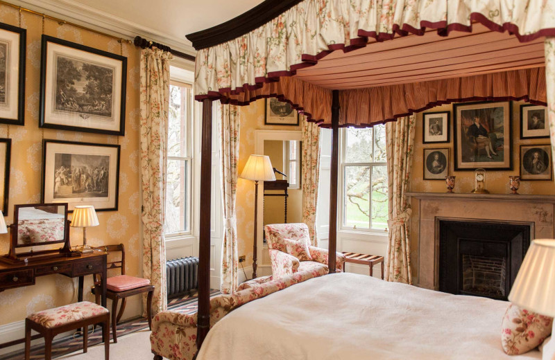 Castle bedroom at Luxury Castle Hire.