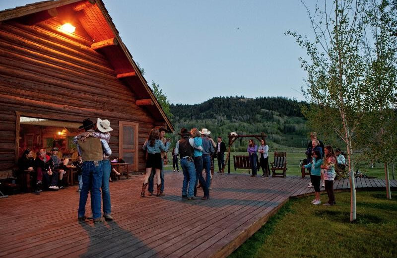 Couples dancing at Goosewing Ranch.