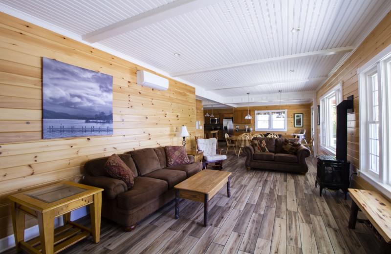 Rental living room at Trout House Village Resort.