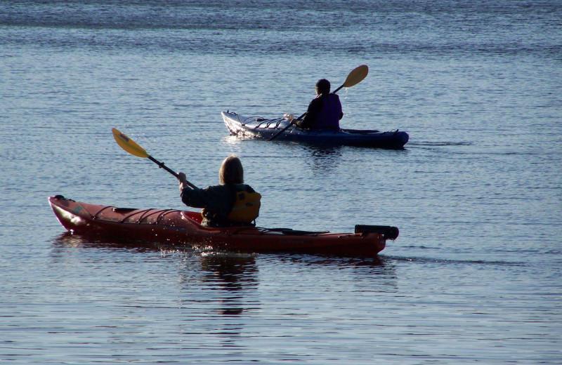 Kayaking at Pine Beach Resort-Side Lake.