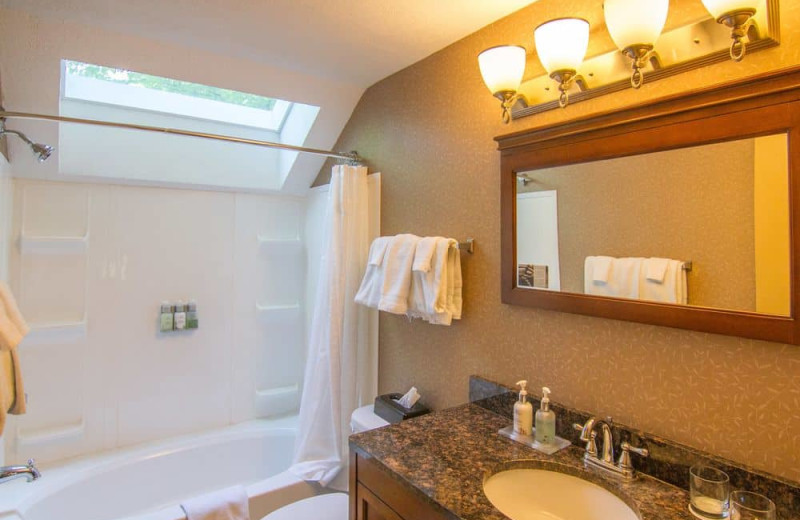Guest bathroom at Crystal Mountain Resort and Spa.