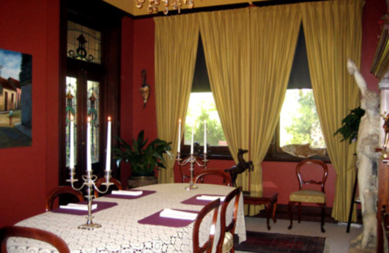 Dining room at Marble Lodge Luxury Bed & Breakfast.