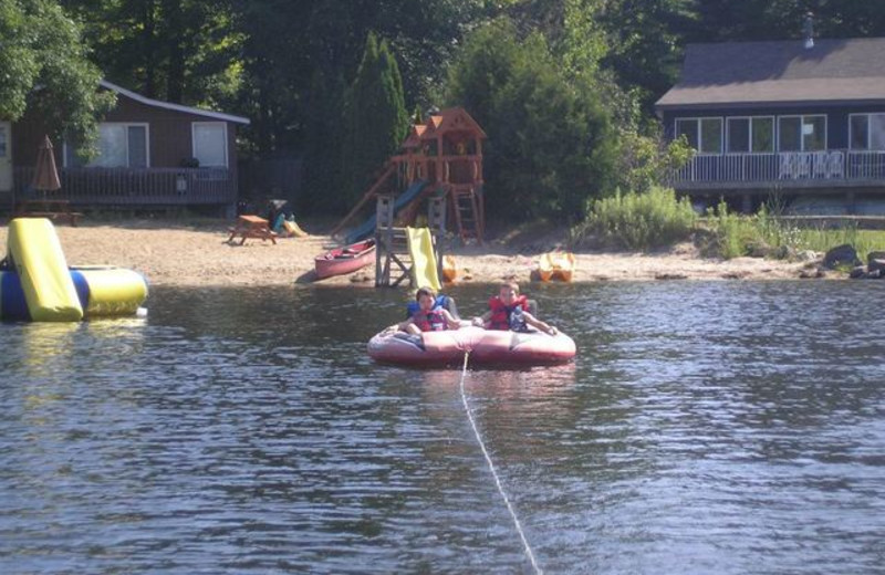 Water tubing at Pleasant Cove Resort.