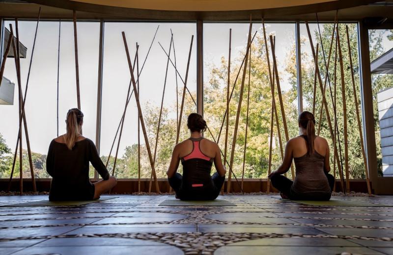 Yoga at Heidel House Resort.