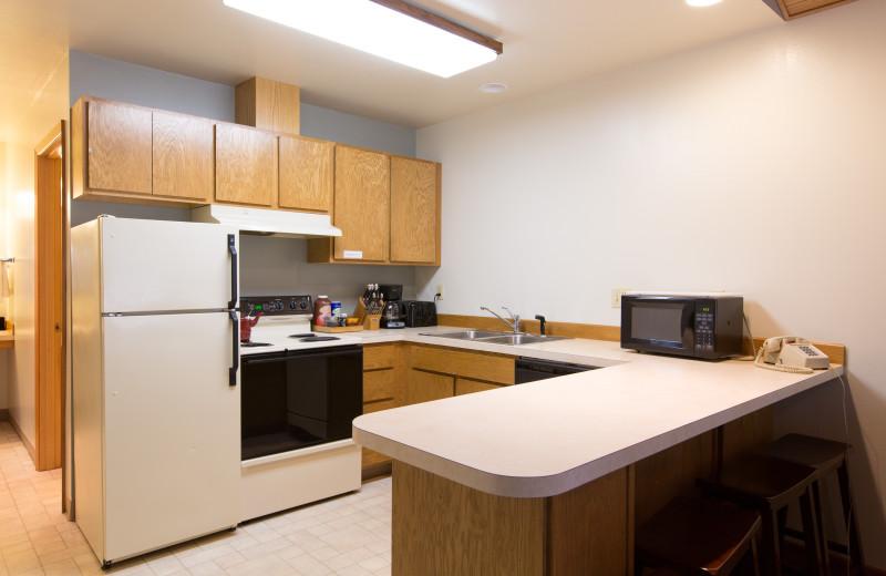 Guest kitchen at Westcliff Lodge.