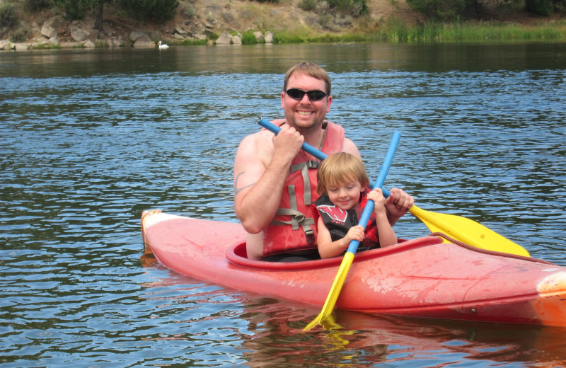 Kayaking at The Ashley Inn.