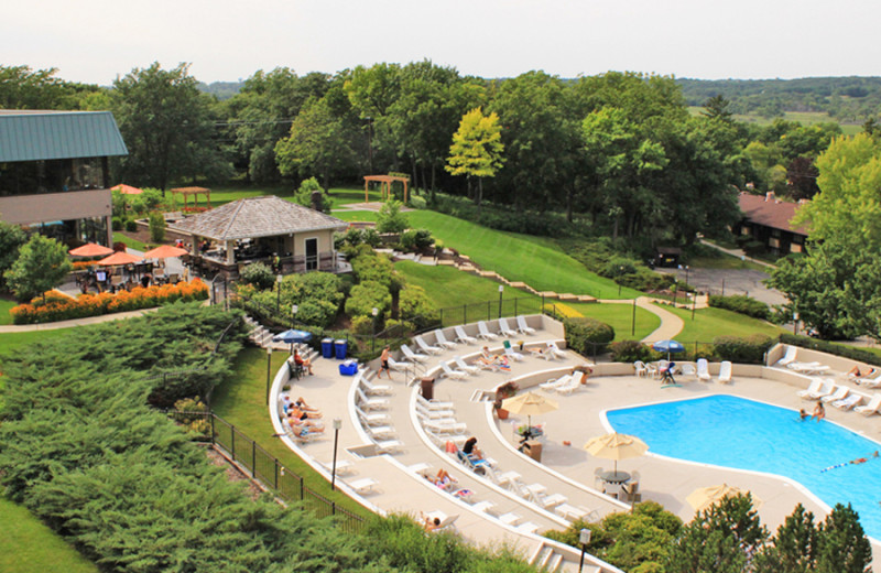 Outdoor pool at The Ridge Hotel.