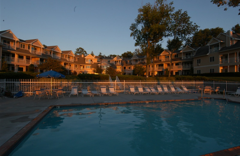 Outdoor pool at Westwood Shores Waterfront Resort.