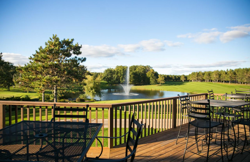 Patio at Thumper Pond Golf Course & Resort.