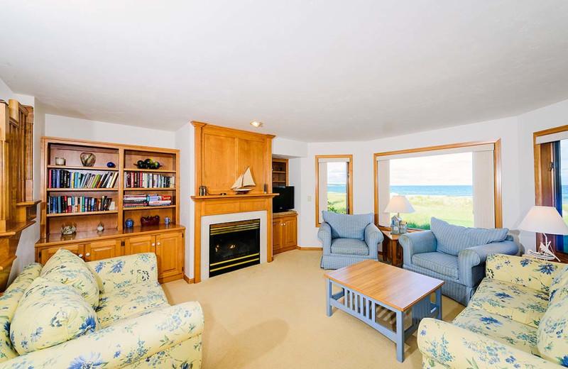 Guest living room at Glidden Lodge Beach Resort.