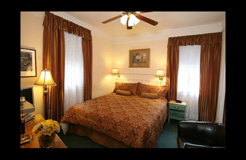 Guest room at Andrews Hotel.