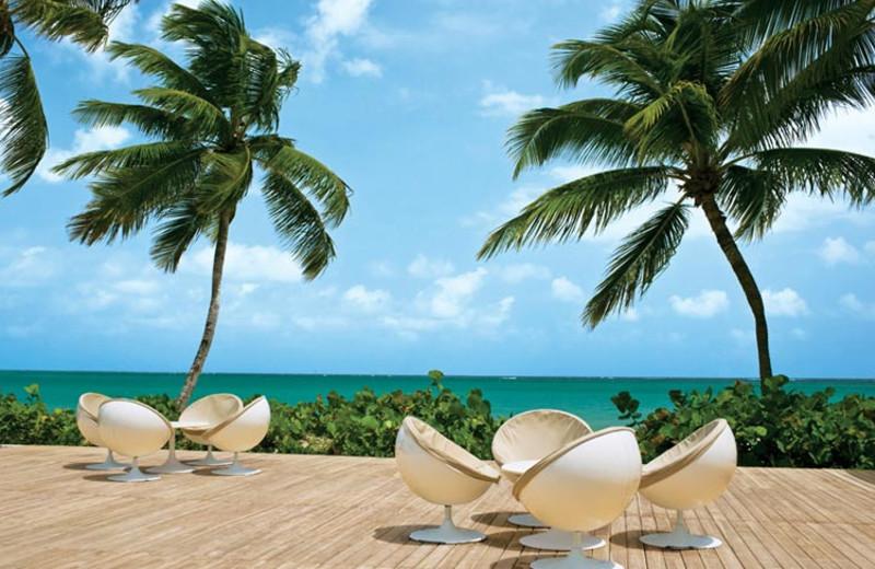 Beach view of El San Juan Hotel & Casino.
