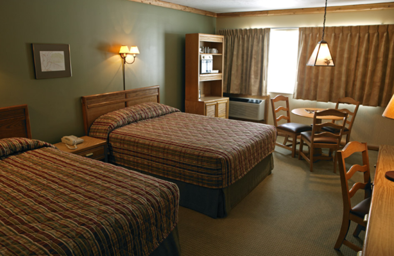 Guest room at Crystal Mountain Resort and Spa.