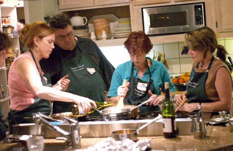 Cooking class at Casa Lana Bed & Breakfast.