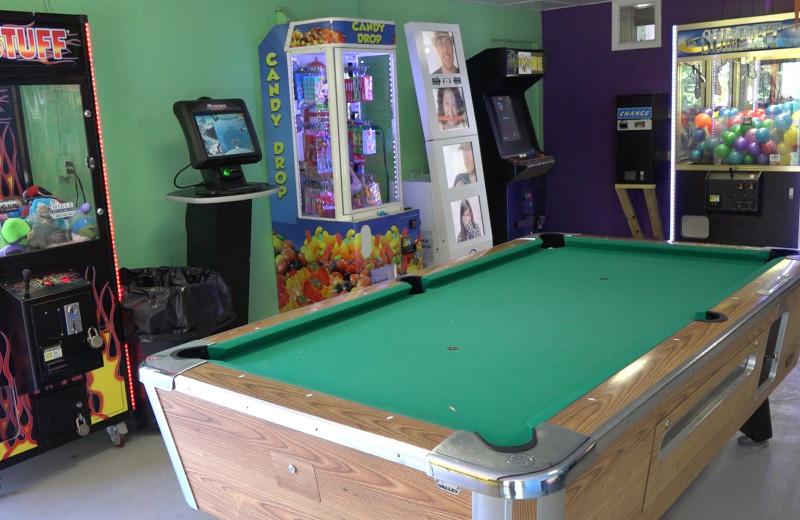Arcade room at Yogi at Shangri-La - Jellystone Park.