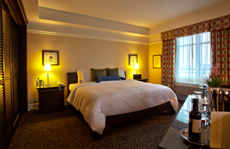 Guest room at Le St-Martin Hotel & Suites.