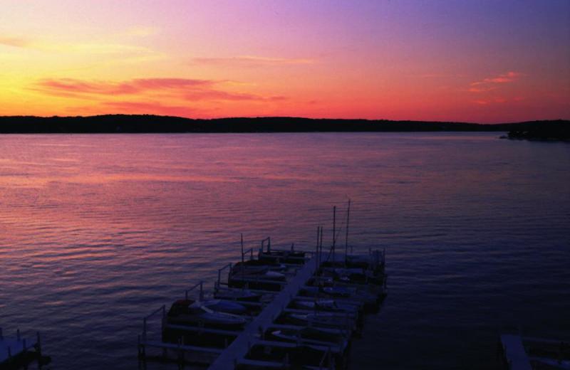 Sunset at The Geneva Inn.