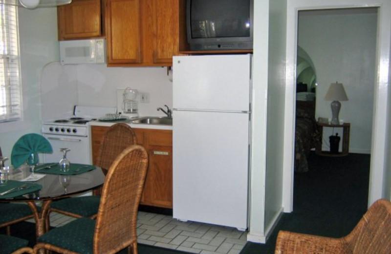 One bedroom unit kitchen at The Banyan Resort.