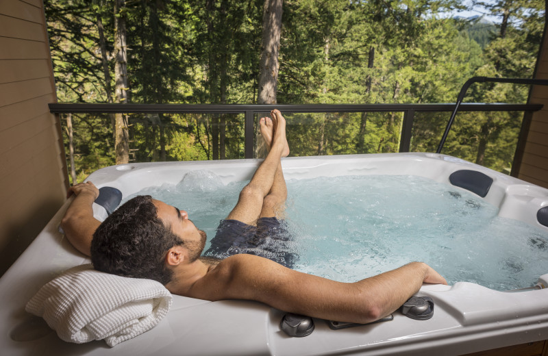 Hot tub at Carson Hot Springs Spa and Golf Resort.