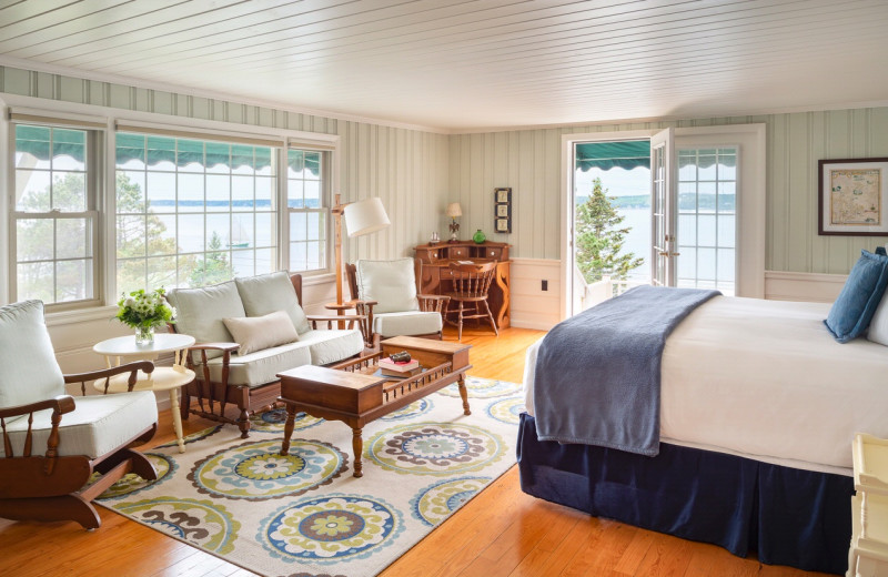 Guest room at Spruce Point Inn.